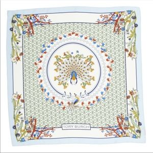 Tory Burch meadow folly silk square scarf